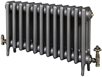 Eastgate Victoriana 3 Column 12 Section Cast Iron Radiator 450mm High x 756mm Wide - Metallic Finish